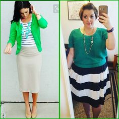 #ChubbyChique 6-14-2016 #ootd #beYOUtiful16 #pinneditspinnedit #june2016pinneditspinnedit Black and white stripes, green and turquoise inspiration