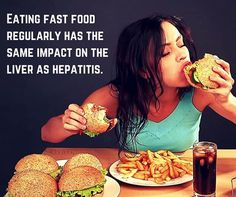 Eating #fast food regularly has the same impact on the #liver as hepatitis.