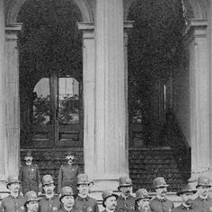 Louisville police officers in front of City Hall, 1889.