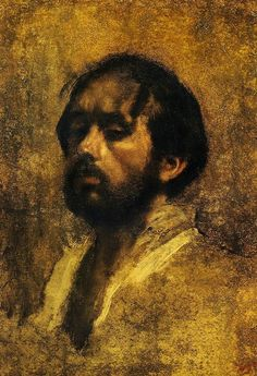 loverofbeauty:  Edgar Degas:  Self Portrait (1863)