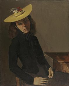Balthus (Balthasar Klossowski de Rola, France 1908-2001), The Bernese Hat, oil on canvas, 1938-39. Collection Wadsworth Atheneum, Hartford, Connecticut.