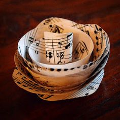 sheet music flower - for around the table, can make them in different sizes