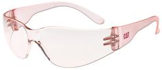CAT Jet Safety Glasses with Pale Pink Frame and Pink Lens