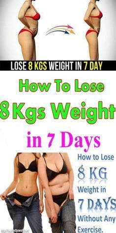 How To Lose 8 Kgs Weight In 7 Days?!