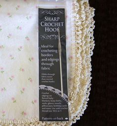 SewChic: Crochet-Edged Blanket and Hook Giveaway