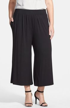 Sejour Knit Palazzo Pants (Plus Size) available at #Nordstrom