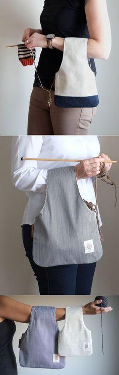 La bolsa original para la labor de punto
