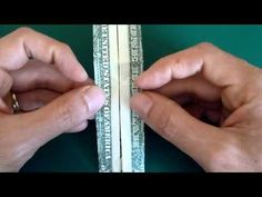 Make money origami trousers or pants, step by step