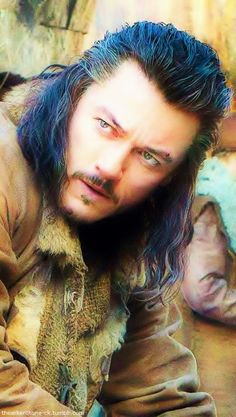 Bard.  Was his hair really that blue in the movies?