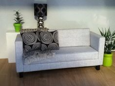 Grey fabric doll sofa, Monster high furniture, Barbie furniture on Etsy, $35.00