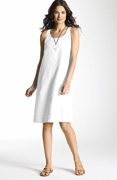 dresses > short linen tank dress at J.Jill
