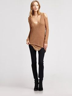 Love just about anything with cut-out shoulders and a asymmetrical hem
