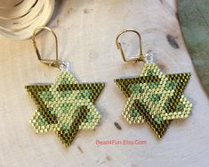 """Seed Beaded Earrings, Name: Forever Connected Goddess"""" Statement Earrings, Celtic Knot Jewelry, Orgi Seed Bead Earrings, Feather Earrings, Beaded Earrings, Seed Beads, Statement Earrings, Celtic Knot Jewelry, Jewelry Knots, Beadwork Designs, Native American Beading"""