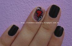 Nail Art, Tattoo, Heart, Wings