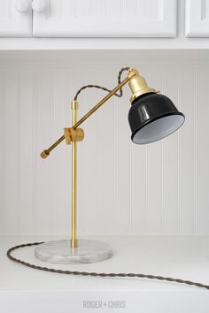 Camper Brass Desk Lamp from Roger + Chris