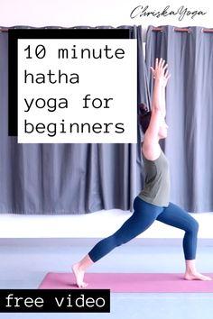 10 Minute Hatha Yoga for Beginners — ChriskaYoga - Pilates Workout Pilates Studio, Pilates Reformer, Pilates Workout, Hatha Yoga For Beginners, Beginner Yoga, Workout For Beginners, Yoga Meditation, Kundalini Yoga, Yoga Inspiration