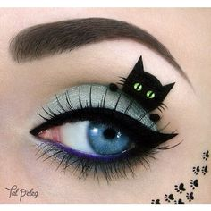 """""""Cat Eyes"""" Takes On a Whole New Meaning ❤ liked on Polyvore featuring cat, eyes and makeup"""