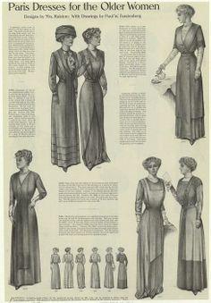 1914 dress-upper right, button trims
