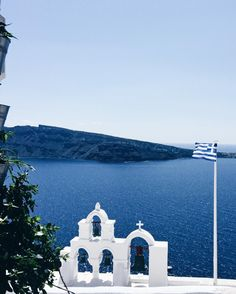b l u e _ g r e e c e . . . . #bluegreece#greece#greekislands#greeksummer#santorini#oia#cyclades#blue#eternalblue#sea#church#greekchurch#white#whitechurch#flag#greekflag#visitgreece#vsco#travel#traveling#travelling#traveller#iwannaseetheworld