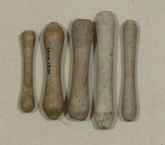 Bilboquet, 18thC, Clay wig curlers (male) Snowshill Manor © National Trust / Richard Blakey