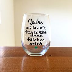 The perfect glass to sip wine from while enjoying a girls night!