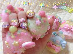 パステルバージョン カップケーキの指輪と ミニブローチ♪ From Pinkhime
