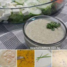 Não perca as 5 Receitas de Molhos Para Saladas! São molhos práticos – basta misturar os ingredientes ou batê-los no liquidificador – e deliciosos para todo