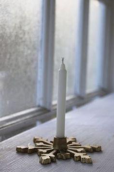 Ljusstake snöflinga