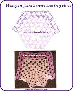 Crochet baby hexagon jacket