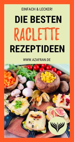 Die besten Raclette Rezept Ideen So that your raclette will be something very special this year, we have looked around for unusual variations, great recipes, ideas and ingredients. Party Finger Foods, Party Snacks, Raclette Party, Raclette Ideas, Party Buffet, Brunch Party, Dough Recipe, Yummy Snacks, Great Recipes