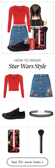 """""""Untitled #470"""" by the-fashion-fantasy on Polyvore featuring MAC Cosmetics, Ultimate, Essie, Miss Selfridge, WearAll, Converse, NARS Cosmetics and LULUS"""