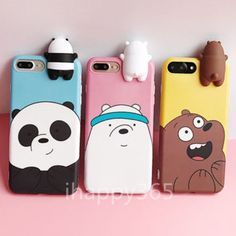 Diy Phone Case 616641373964066279 - Cartoon Animals Cute We Bare Bears Soft Silicone Case Cover Skin For iPhone Source by 3d Iphone Cases, Diy Phone Case, Cellphone Case, Iphone Charger, Smartphone, We Bare Bears, Cute Cases, Cute Phone Cases, Animal Phone Cases