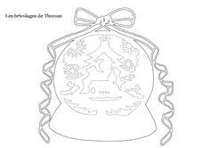 Les bricolages de Thomas: Kirigami, boule à neige de Noël !