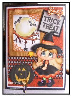 PAPER PIECING MEMORIES BY BABS: Trick or Treat Halloween Card
