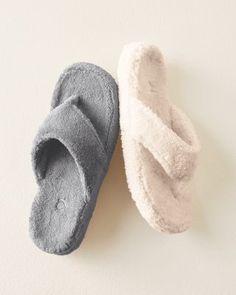 3b5df3e3f89 Acorn New Spa Thong Slippers - Garnet Hill Acorn