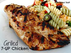 Mom's Grilled 7-UP Chicken (only 4 ingredients!) SixSistersStuff.com