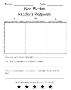 KWL Non-Fiction Reader's Response