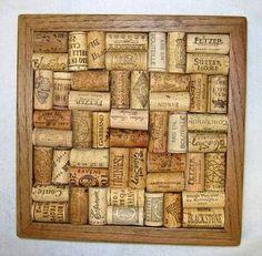 Functional Wine Cork Wall Art