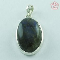 BLUE FIRE .925 STERLING SILVER BEATIFUL LABRADORITE STONE FASHION PENDANT P3380 #SilvexImagesIndiaPvtLtd #Pendant