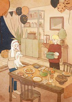 42번째 이미지 Aesthetic Anime, Aesthetic Art, Pretty Art, Cute Art, Character Art, Character Design, Wow Art, Cartoon Wallpaper, Cute Illustration
