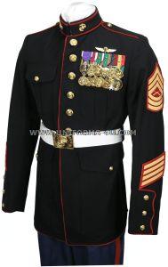 The Marine's dress blues. Hottest uniform EVER! Dress Blues Marines, Marine Corps Dress Blues, Blue Evening Dresses, Blue Dresses, Marine Corps Emblem, Marine Officer, Usmc T Shirts, Uniform Dress, Blue And White Dress