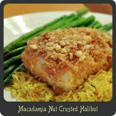 Macadamia Nut Crusted Halibut