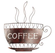 Contemporary Metal Wall Art   Coffee Cup That I Would Like To Have In My  Kitchen.