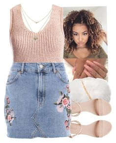 """""""#Blush pink"""" by eazybreezy305 on Polyvore featuring Sans Souci, Topshop, Lipsy, cute, Trendy, 2017 and Spring2017"""