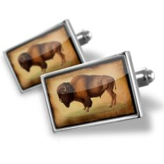 """Neonblond Cufflinks """"Bison, Buffalo"""" - cuff links for man NEONBLOND Cufflinks. $29.90. Comes with our Free Velvet / Satin Bag. Standard Size is approximately 19mm x 12mm. We have more then 4000 different Cufflinks. Unique Gift for the Modern Classic Man. Products are Assembled in America. Save 50% Off!"""