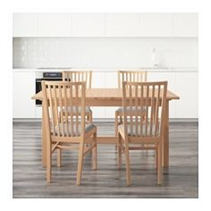 IKEA - NORDEN / NORRNÄS, Table and 4 chairs,  ,