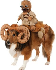This is the most amazing dog costume ever!!! LMFAO!   Star Wars Bantha Pet Dog Costume Size Extra Large