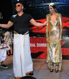 Lungi dance with Deepika Padukone and Vin Diesel #xXxIndiaPremiere