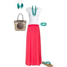 maxi skirt, created by natjones1124.polyvore.com