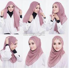 Dress brokat hijab simple 58 super ideas Source by – Hijab Fashion 2020 Tutorial Hijab Pesta, Hijab Style Tutorial, Pashmina Hijab Tutorial, Square Hijab Tutorial, Hijab Mode Inspiration, Beau Hijab, Hijab Simple, How To Wear Hijab, Dress Brokat